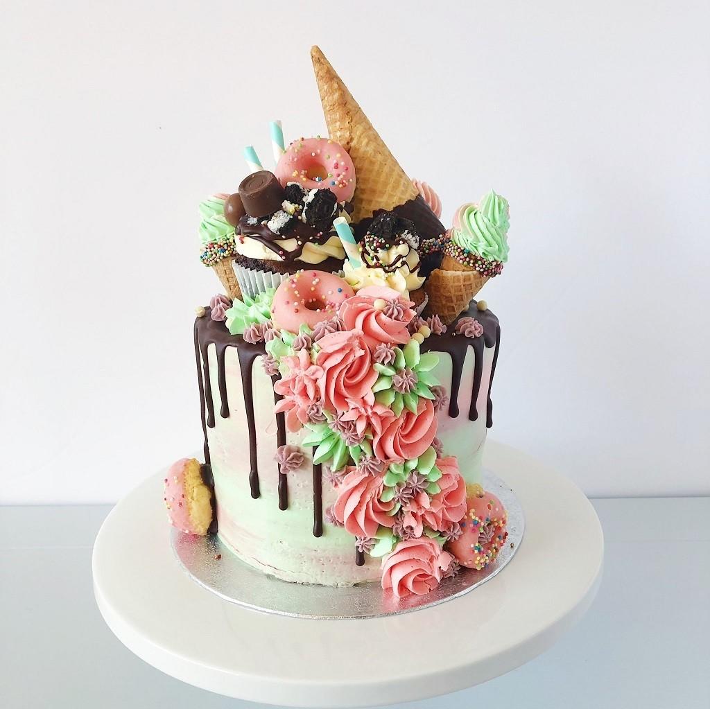 Sladoledna torta kot sladoled na poroki