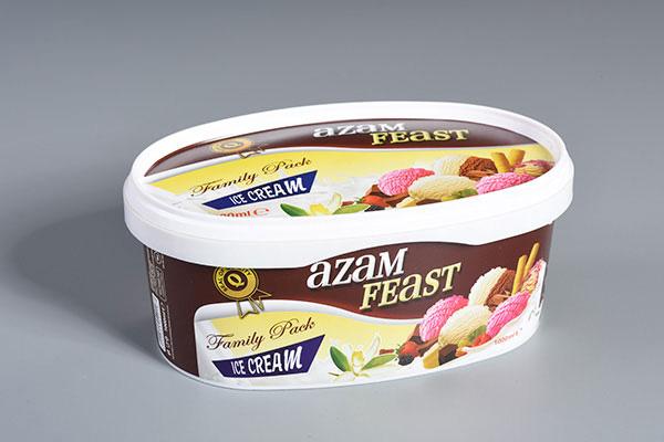 Squround - večina pakiranj sladoleda je prodana v tekšni obliki embalaže.