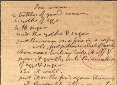 Recept za vanilijev sladoled v ameriškem Kongresu.